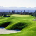The Gallery at Dove Mountain - View of the green and surrounding bunkers on the Golf Course in Tucson Arizona