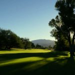 Forty Niner Country Club shadows from trees falling on the fairway at the golf course in tucson arizona