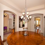 Dining room in the luxury home in Dove Mountain in Tucson, Arizona